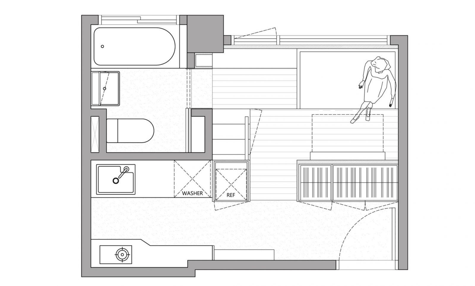 Thiết kế căn hộ diện tích nhỏ 11