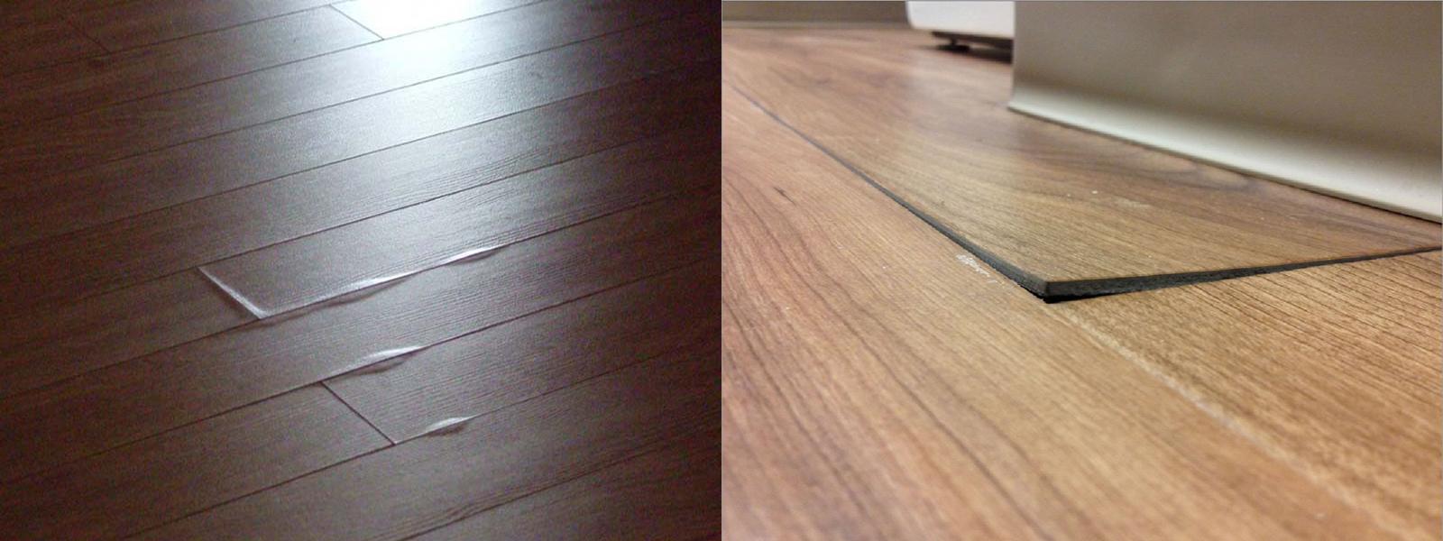Sàn gỗ công nghiệp bị phồng
